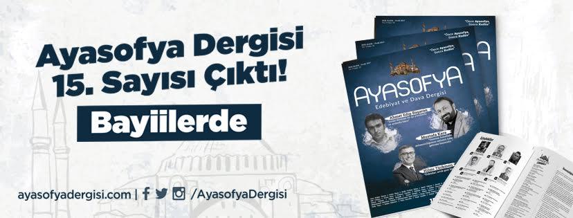 Ayasofya Dergi 15. Sayı!